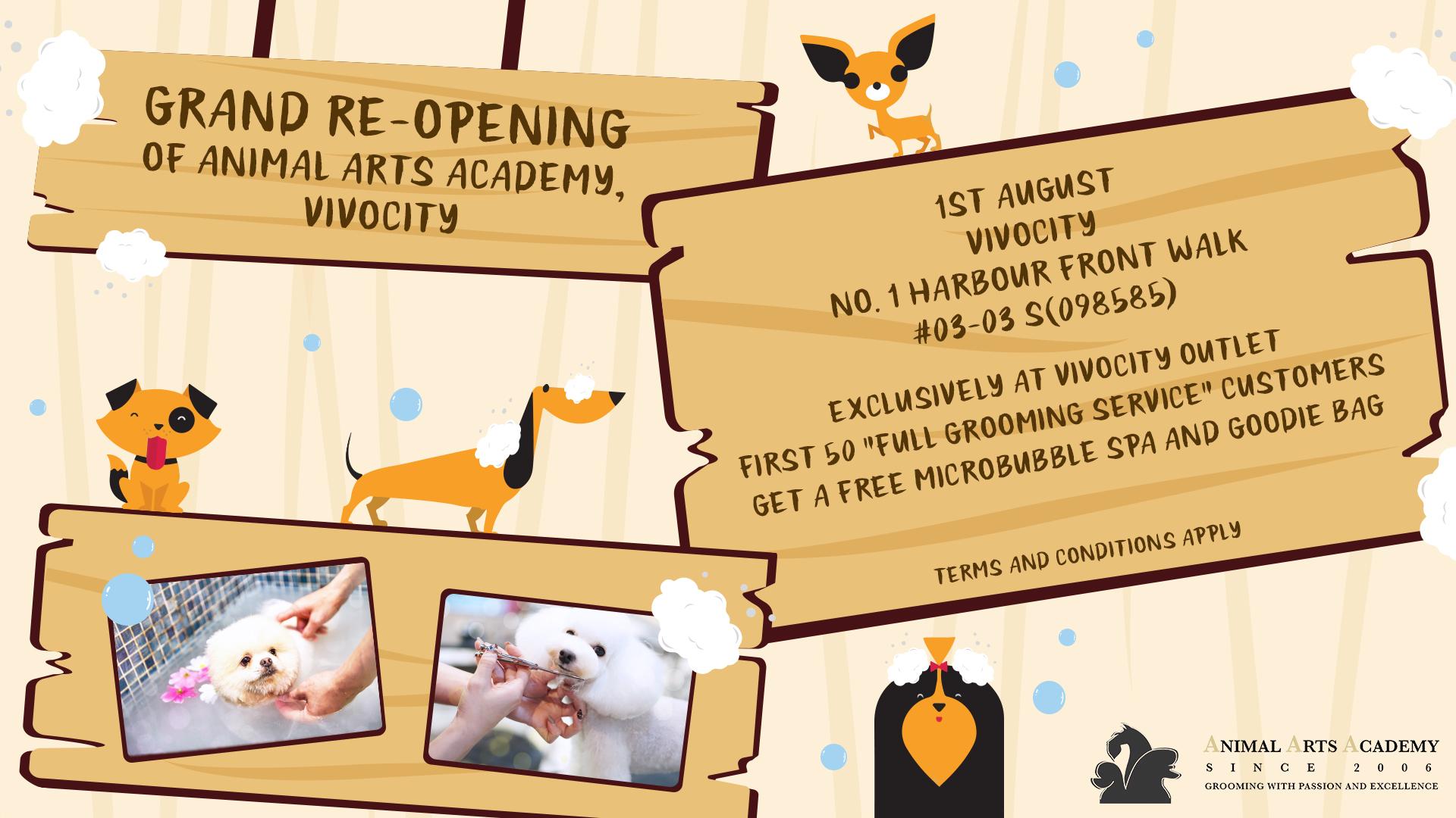 Grand Re-Opening of Animal Arts Academy, Vivocity